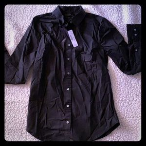 J. Crew Perfect Fit shirt, size small, black